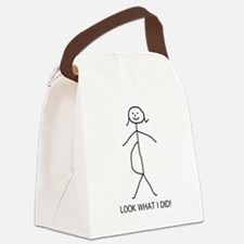 pregnant stick figure.png Canvas Lunch Bag