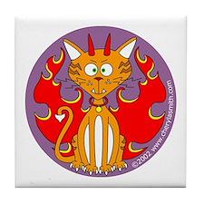 Devil Kitty Tile Coaster