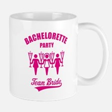 Bachelorette Party – Team Bride, Magenta Small Mugs