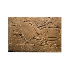 Assyrian Relief - Rectangle Magnet
