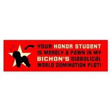 BICHON World Domination Bumper Bumper Sticker