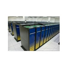 Cray XT4 supercomputer cluster - Rectangle Magnet