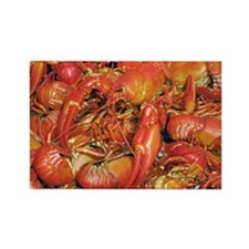 Cooked crayfish - Rectangle Magnet