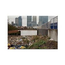 Dumped rubbish - Rectangle Magnet