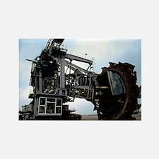 Giant bucket wheel excavator - Rectangle Magnet