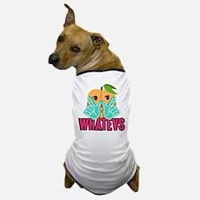Emoji Peach Whatevs Dog T-Shirt