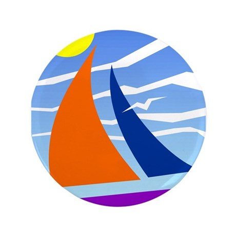 "Sail Away 3.5"" Button"