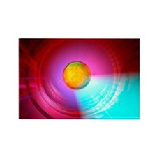 Higgs Boson particle, artwork - Rectangle Magnet