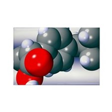 Ibuprofen molecule - Rectangle Magnet
