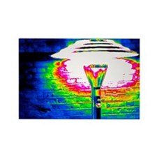 Patio heater, thermogram - Rectangle Magnet
