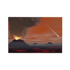 Prehistoric Earth, artwork - Rectangle Magnet