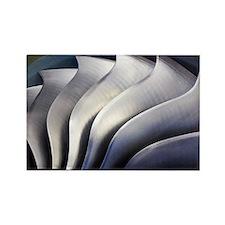 S-curve fan blades - Rectangle Magnet