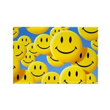Smiley face symbols - Rectangle Magnet