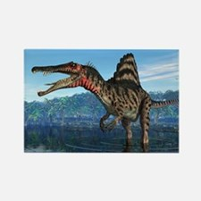 Spinosaurus dinosaur, artwork - Rectangle Magnet