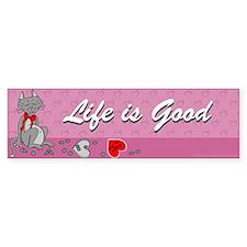 Happy Cat Bumper Bumper Sticker