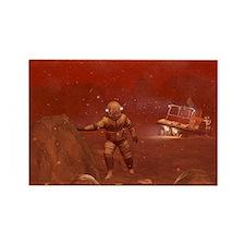 Titan exploration, artwork - Rectangle Magnet