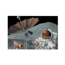 Apollo 15 exploration, artwork - Rectangle Magnet