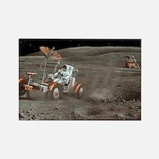 Apollo 16 lunar rover, artwork - Rectangle Magnet