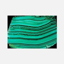 A polished slab of malachite - Rectangle Magnet