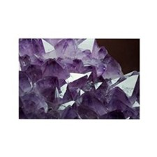 Amethyst crystals - Rectangle Magnet