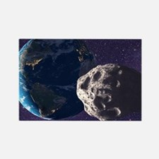 Asteroid approaching Earth - Rectangle Magnet