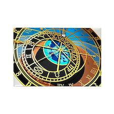 Astronomical clock, artwork - Rectangle Magnet
