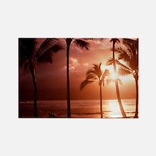 Beach at sunset - Rectangle Magnet