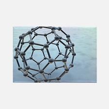 Buckminsterfullerene molecule - Rectangle Magnet