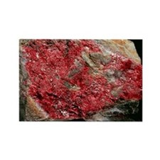 Cinnabar, mercury ore - Rectangle Magnet
