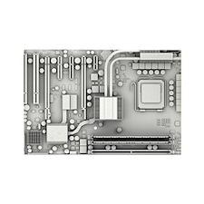 Computer motherboard, artwork - Rectangle Magnet