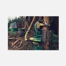 Commercial forestry - Rectangle Magnet