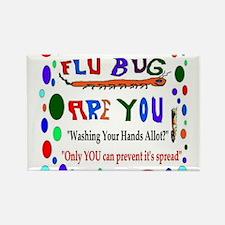 Flu Epidemic Funny Rectangle Magnet