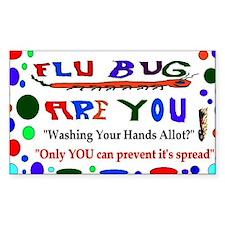 Flu Epidemic Funny Decal
