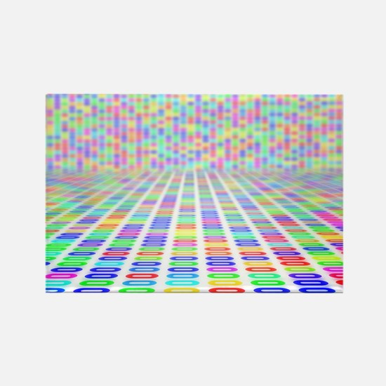 DNA sequence, abstract artwork - Rectangle Magnet