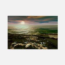 Earth-like planet, artwork - Rectangle Magnet