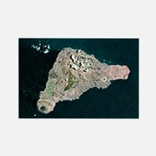 Easter Island, satellite image - Rectangle Magnet