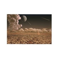 Early Earth, computer artwork - Rectangle Magnet