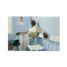 Elderly patient - Rectangle Magnet