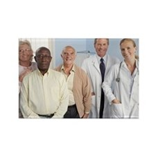 Elderly patients - Rectangle Magnet