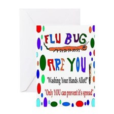Flu Epidemic Funny Greeting Card