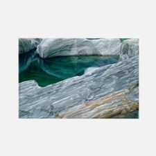Gneiss boulders - Rectangle Magnet