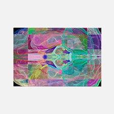 Human brain, computer artwork - Rectangle Magnet