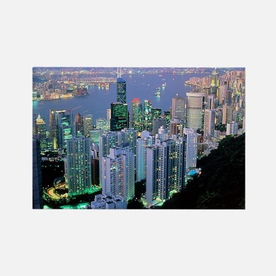 Hong Kong at dawn - Rectangle Magnet