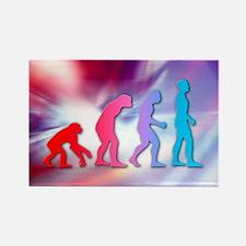 Human evolution - Rectangle Magnet