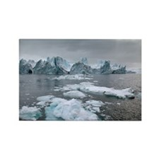 Icebergs - Rectangle Magnet