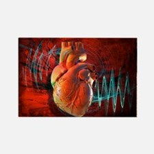 Human heart, artwork - Rectangle Magnet
