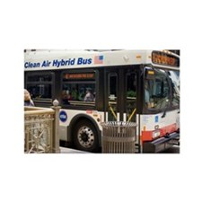 Hybrid bus in Chicago - Rectangle Magnet