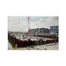 Land reclamation, Netherlands - Rectangle Magnet