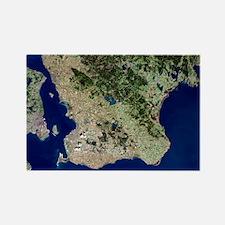 Malmo, satellite image - Rectangle Magnet