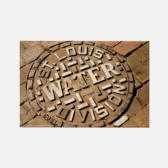 Manhole cover in St Louis - Rectangle Magnet